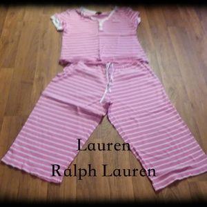 Lauren Ralph Lauren Pink Strip PJ